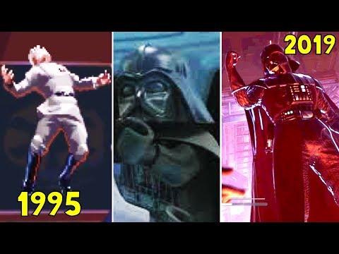 Darth Vader Using Force Choke in Star Wars Games 1995-2019