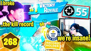 UNKNOWN sets NEW *WORLD RECORD KILLS* w/ KHANADA in Duo Cash Cup Fortnite!