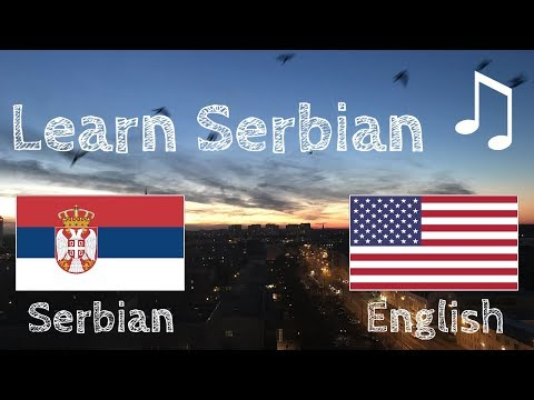 Learn before Sleeping - Serbian (native speaker)  - with music