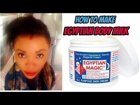 How To Make Egyptian Body Milk   Egyptian Whitening Body Cream   Home Made Egyptian Body Lotion