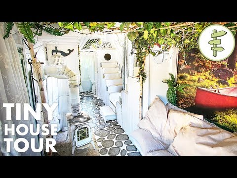 DIY Tiny House with the Most INCREDIBLE Interior Design!