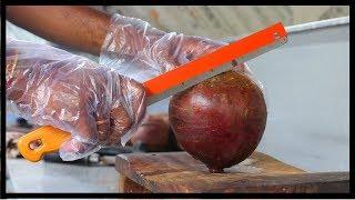 FRUIT NINJA of BEATROOT   Amazing beatroot Fruits Cutting Skills   Indian Street Food In 2018