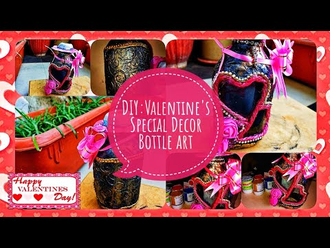 Bottle Art for Valentines day