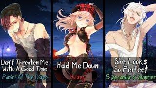 Gambar cover Nightcore - Hold Me Down, She Looks So Threatening (Mashup) (Switching Vocals)