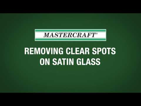 MASTERCRAFT Interior Doors > Interior Doors > Removing Clear Spots on Satin Glass