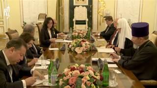 Святейший Патриарх Кирилл встретился с генеральным секретарем Организации объединенных наций
