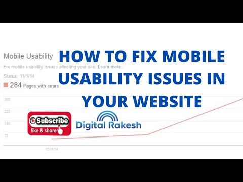 How to fix mobile usability issues on website