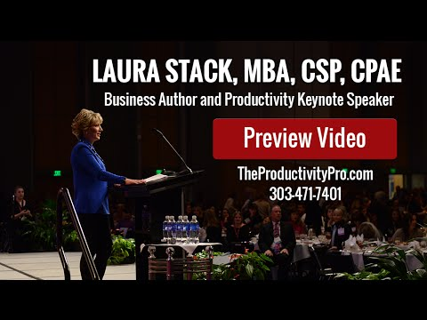 Laura Stack Professional Time Management & Keynote Speaker – Preview Video