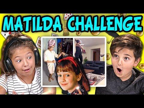 KIDS REACT TO MATILDA CHALLENGE COMPILATION