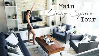 Main Living Space Tour! || My Living Room, Kitchen & Coffee Nook!