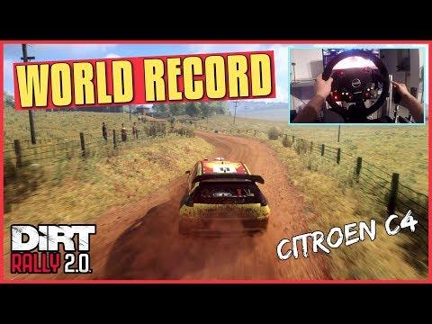 DiRT Rally 2.0 | Citroen C4 WORLD RECORD (Thrustmaster Wheel Cam Gameplay)