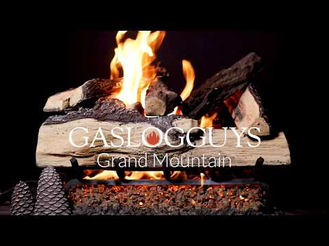 GasLogGuys Grand Mountain Split Oak Vented Gas Log Set