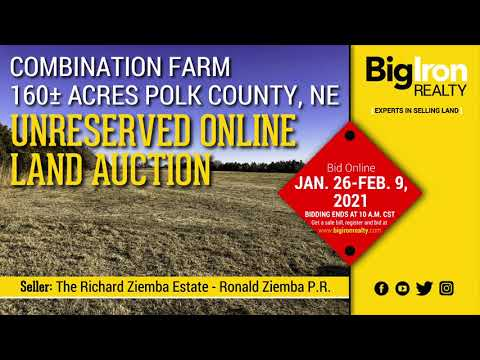 Land Auction 160+/- Acres Polk County, NE