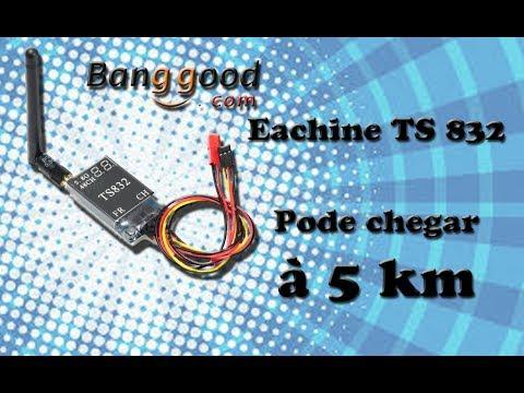 Unboxing VTX Eachine TS832 5.8 Ghz 600 mW PT BR