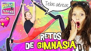 🏃 RETOS DE GIMNASIA En TELAS AEREAS 🎀  Los MEJORES TRUCOS DE GIMNASIA RÍTMICA Y ARTÍSTICA: Split..