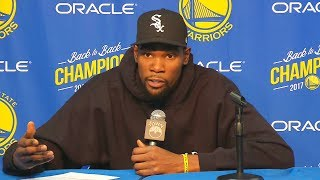Kevin Durant Gets Sick Of Reporters Asking Him About Leaving Warriors To Join The Knicks & Goes Off!