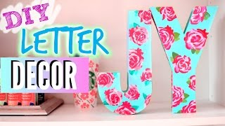 DIY Room Decorations: Easy Floral Block Letters