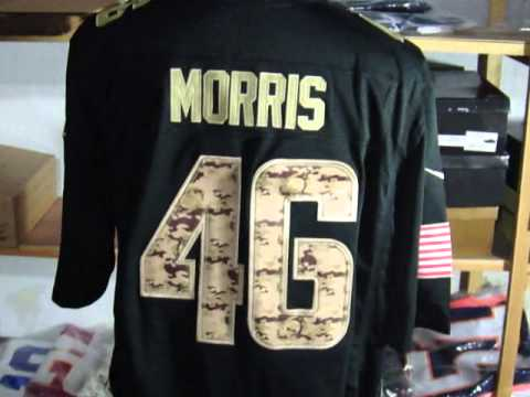 Washington Redskins #46 alfred morris Black Salute to Service Jerseys By www.intojerseys.top