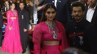 Sonam Kapoor and Anil Kapoor at Isha Ambani's Grand Wedding