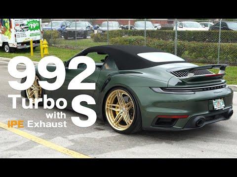 Porsche 992 Turbo S w/ iPE Titanium Exhaust System !!!