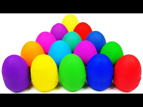 Ovetti Kinder Sorpresa Play Doh, Plastilina Giocattoli, Many Play Doh Eggs Surprise