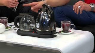 Rosenstein & Söhne Wasserkocher mit LED-Farbwechsel