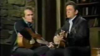 Merle Haggard Johnny Cash  Sing Jimmie Rogers Medly