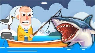 ДЕДУЛЯ РЫБОЛОВ поймал ОГРОМНОГО ДЕЛЬФИНА НА УДОЧКУ симулятор рыбалки для детей