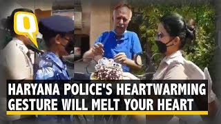 Army Veteran Breaks Down on Getting Surprise Birthday Cake From Haryana Police | The Quint