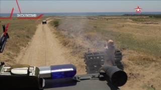 Российские военные расстреливают джихад мобиль из гранатомета  эксклюзивные кадры