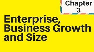 1.3 Enterprise, Business Growth and Size - IGCSE Business Studies