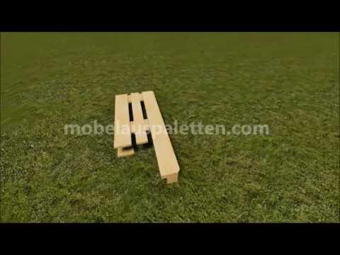 Anleitung, wie man einen Stuhl mit Paletten machen