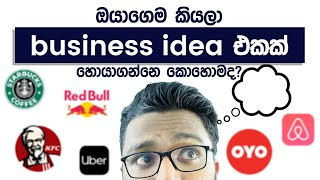 Business ideas  - How to find your own business idea - Simplebooks (Sinhala)