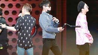 BIGBANG - Transfer Balloon Game -T.O.P Vs GD (FM In Guangzhou, 07.07.2016)