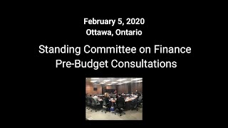 CHBA's Remarks to the House of Commons Standing Committee on Finance