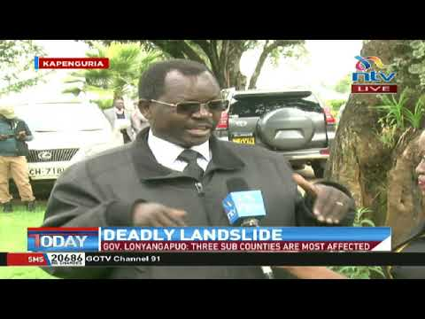 West Pokot landslide crisis - Governor Lonyangapuo says more bodies could still be under the mud