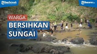Melihat Potensi Wisata Air, Polres Sukabumi Kota Ajak Warga Bersihkan Sungai Cimandiri