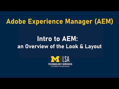 AEM Training: Intro to AEM - YouTube