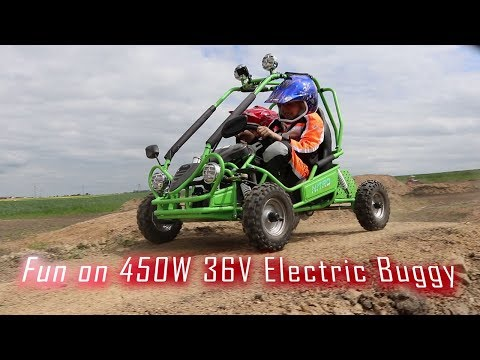 Electric 450W 36V Kids Buggy in Action