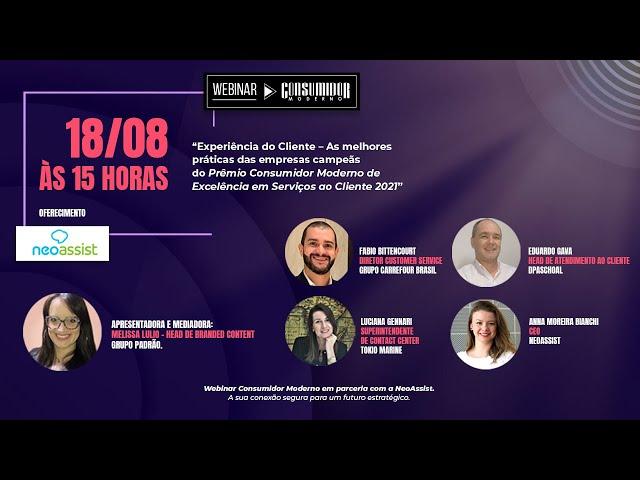 Webinar CM em parceria com NeoAssist: As melhores práticas das empresas campeãs do Prêmio CM 2021