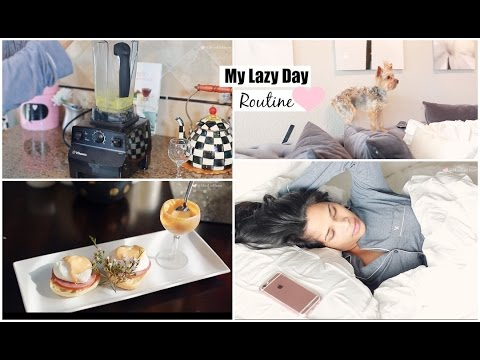 My Lazy Day Routine – Fall Morning Routine Brunch Recipe Eggs Benedict – MissLizHeart