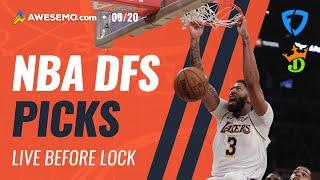 NBA DFS LINEUPS: DRAFTKINGS + FANDUEL PICKS SUNDAY 9/20