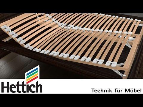 MultiFlex von Hettich: Verstellbeschlag für Kopf- und Fußteile in Lattenrosten