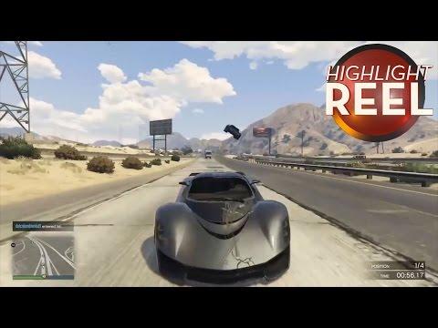 GTA V Car Does A Fine Batmobile Impersonation