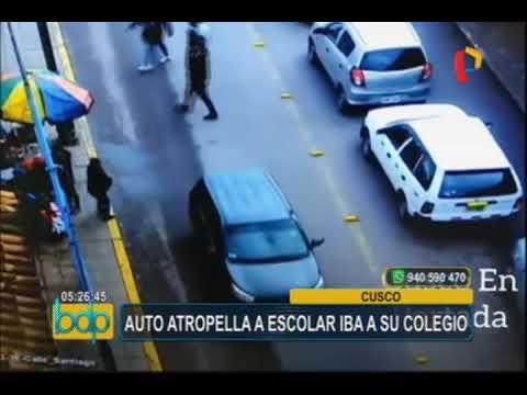 Cusco: cámaras de seguridad registran preciso instante de atropello a escolar