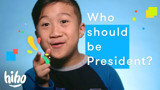 100 kids tell us who should be President! | HiHo