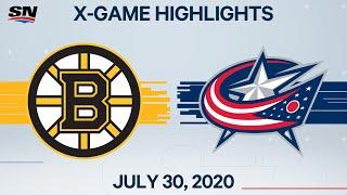 NHL Highlights | Bruins Vs. Blue Jackets - July 30, 2020