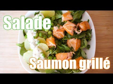 salade de saumon grillé à l'asiatique
