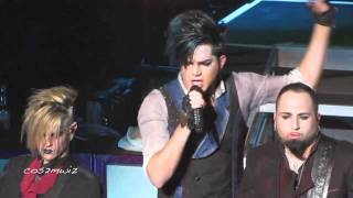ADAM LAMBERT Sure Fire Winners ~ Club Nokia, LA 12-16-10