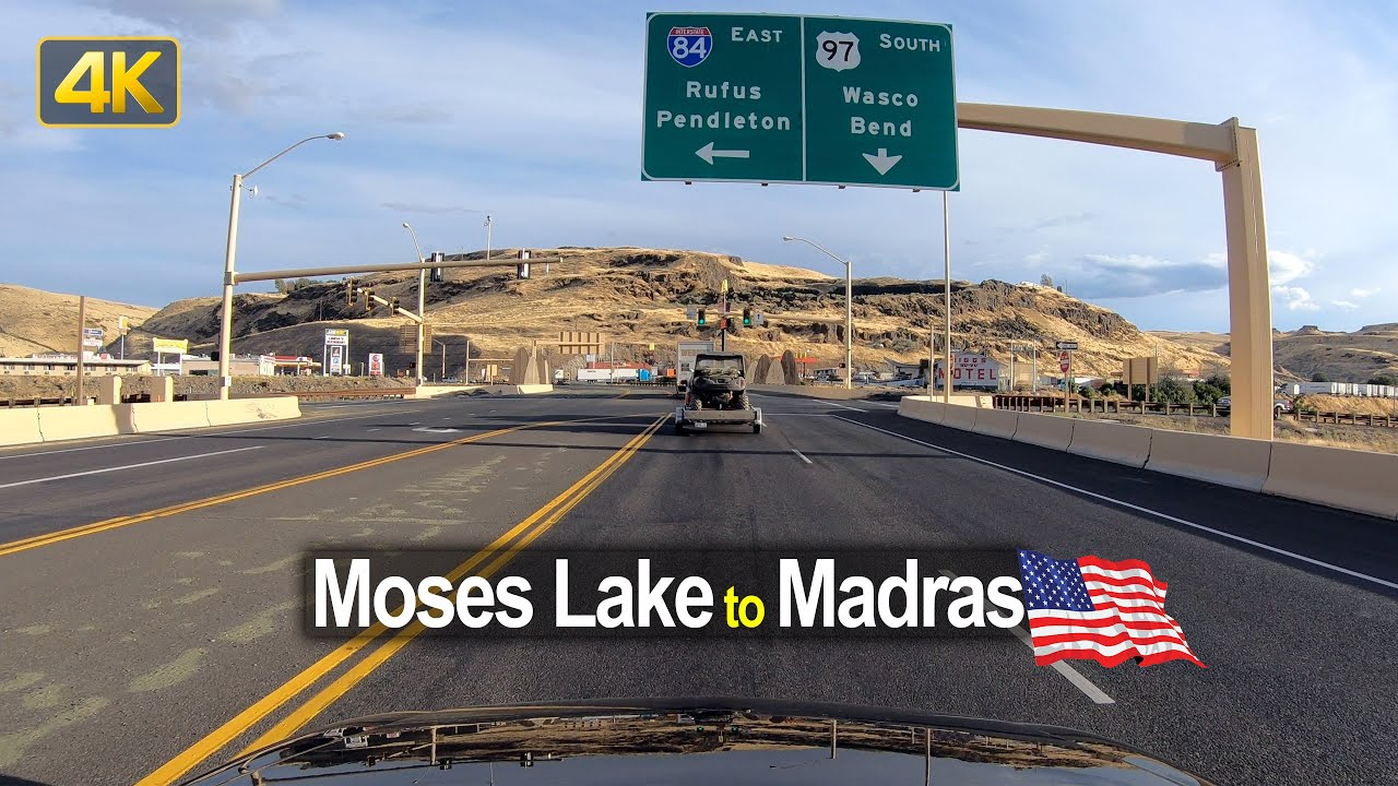 USA Road Trip – Moses Lake WA to Madras OR in 4K